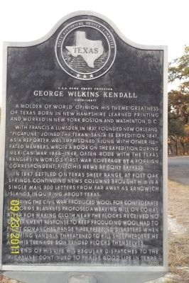 C.S.A. Home Front Producer George Wilkins Kendall Marker image. Click for full size.