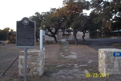 Marker in context, Public library behind image. Click for full size.