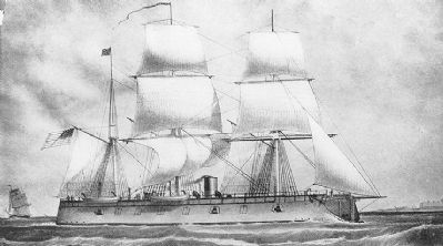 USS <i>New Ironsides</i> image. Click for full size.