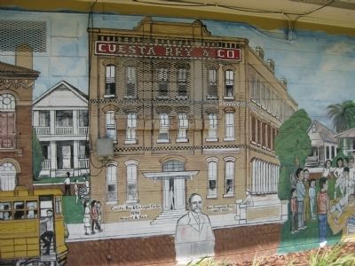 Mural of Cuesta Rey & Co. Cigar Factory image. Click for full size.