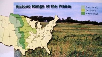Map on A Prairie Reborn Marker image. Click for full size.