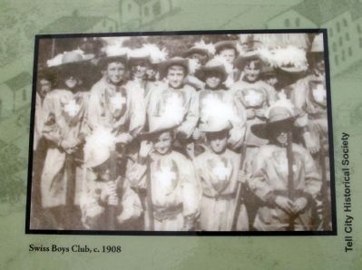 "Marker Photo - - ""Swiss Boys Club, c. 1908"" image. Click for full size."