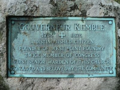 Gouverneur Kemble Marker image. Click for full size.