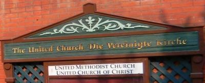 The United Church/<i>Die Vereinigte Kirche</i> image. Click for full size.