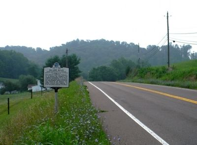 Wide view of the Island Road Marker image. Click for full size.