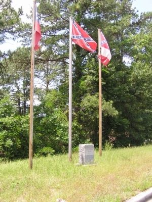 Jefferson Davis Highway Marker and Confederate Flags image. Click for full size.
