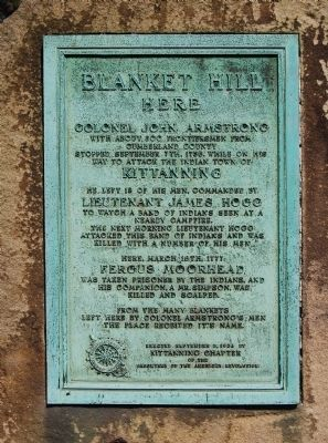 Blanket Hill Marker image. Click for full size.