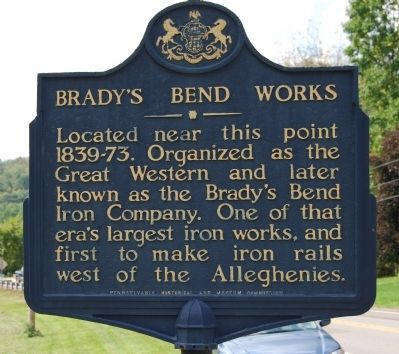 Brady's Bend Works Marker image. Click for full size.