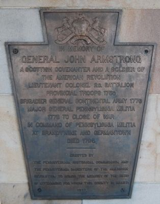In Memory of General John Armstrong Marker image. Click for full size.