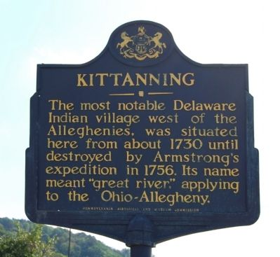 Kittanning Marker image. Click for full size.