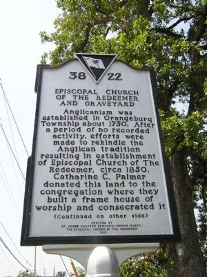 Episcopal Church of the Redeemer and Graveyard Marker image. Click for full size.