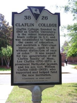 Claflin College Marker image. Click for full size.
