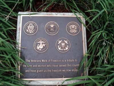 Veterans Walk of Freedom Marker image. Click for full size.