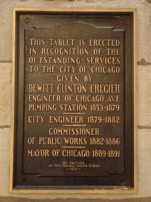 DeWitt Clinton Cregier Marker image. Click for full size.