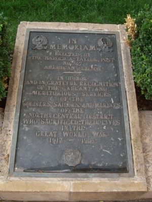 Great World War Marker image. Click for full size.