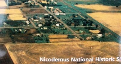 Aerial of Nicodemus on Roads to Success Marker image. Click for full size.