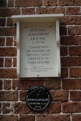 Young-Johnson House Marker image. Click for full size.