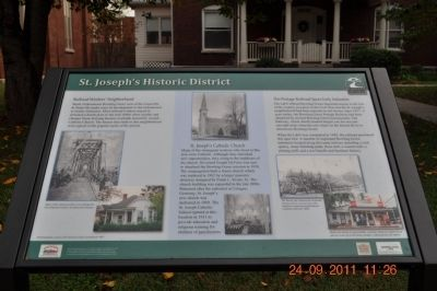St. Joseph's Historic District Marker image. Click for full size.