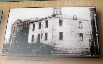 "Marker Photo - - ""Rockport Courthouse"" - <br>Lincoln Era image. Click for full size."