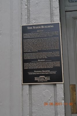 The Nahm Building Marker image. Click for full size.