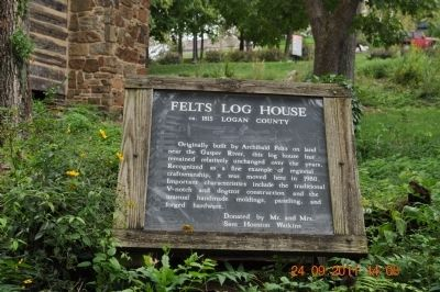 Felts Log House Marker image. Click for full size.