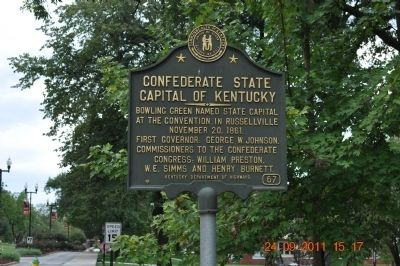 Confederate State Capitol of Kentucky Marker image. Click for full size.