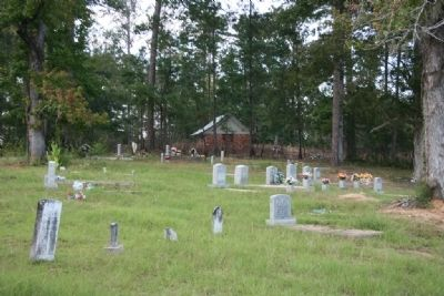 Airmount Cemetery and shelter in the distance toward the back of the cemetery. image. Click for full size.