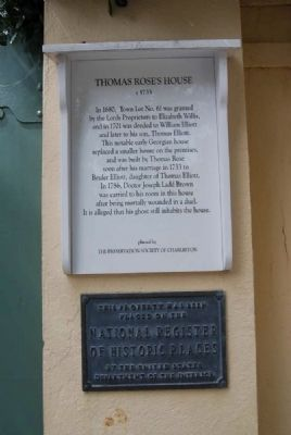 Thomas Rose's House Marker image. Click for full size.