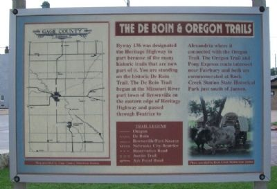 The De Roin & Oregon Trails Marker image. Click for full size.