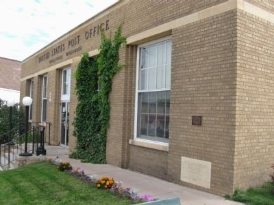 Neillsville Post Office and Marker image. Click for full size.