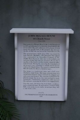 John McCall House Marker image. Click for full size.