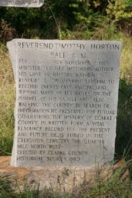 Reverend Timothy Horton Ball, A. M. Marker image. Click for full size.