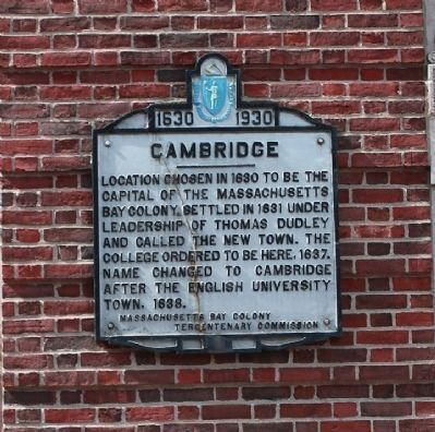 Cambridge (Massachusetts Avenue & Dunster Street) Marker image. Click for full size.