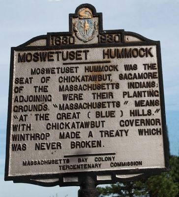 Moswetuset Hummock Marker image. Click for full size.
