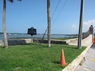 Old location of marker at Avenida Menendez & St Francis St image. Click for full size.