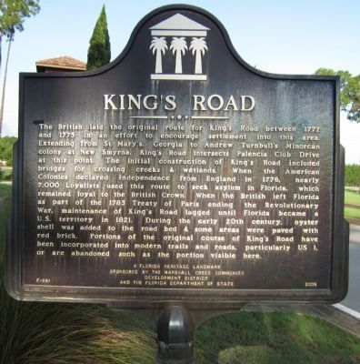 King's Road Marker image. Click for full size.