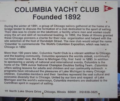 Columbia Yacht Club Marker image. Click for full size.