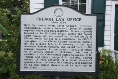 Creagh Law Office Marker image. Click for full size.
