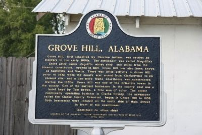 Grove Hill, Alabama Marker (Front) image. Click for full size.