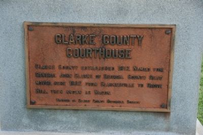 Clarke County Courthouse Marker image. Click for full size.