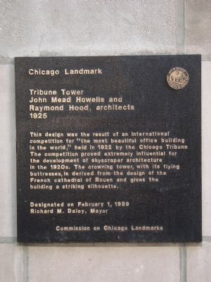 Tribune Tower Marker image. Click for full size.
