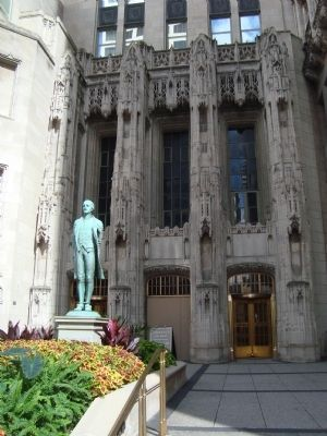 Entrance to Tribune Tower image. Click for full size.
