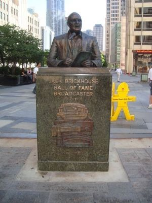 Jack Brickhouse Marker (Front) image. Click for full size.