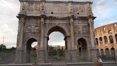 The Arch of Constantine, nearby to the southwest image. Click for full size.