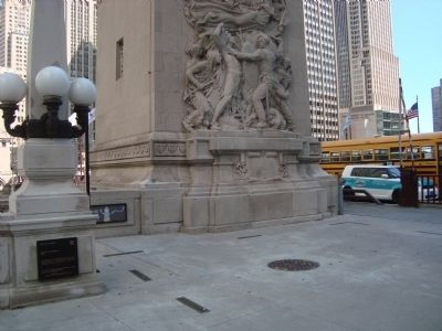 Site of Fort Dearborn Marker image. Click for full size.