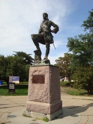 La Salle statue in Lincoln Park image. Click for full size.