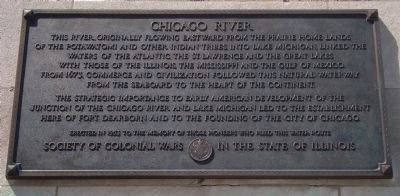 Chicago River Marker image. Click for full size.