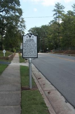 J. Strom Thurmond Birthplace Marker, looking east along Columbia Road (SC 23) image. Click for full size.