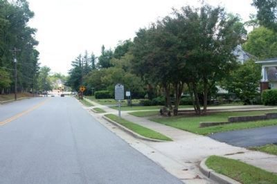 J. Strom Thurmond Birthplace Marker, looking west on Columbia Road image. Click for full size.