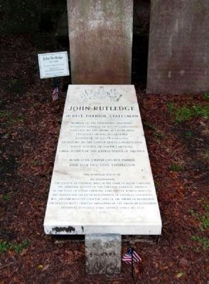 John Rutledge Memorial image. Click for full size.